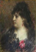 Tranquillo Cremona, Ritratto della signora Curti