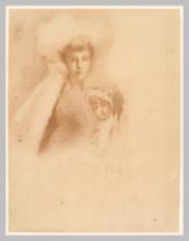 Tranquillo Cremona, Ritratto di Ada con la mamma