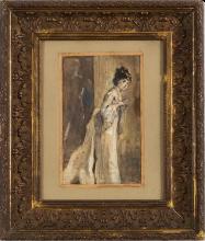 Tranquillo Cremona, Ritratto di Maria Morozzi (Studio)