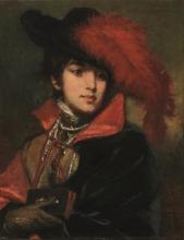Tranquillo Cremona, Ritratto di dama dalla piuma rossa