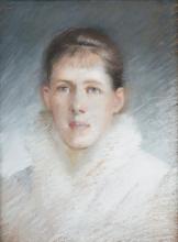 Tranquillo Cremona, Ritratto di donna in abito bianco