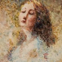 Tranquillo Cremona, Ritratto femminile [dettaglio]