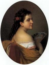 D'Ancona, Figura femminile di profilo con ventaglio.jpg