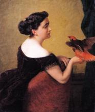 D'Ancona, Ritratto di Elvira Bistondi Mariani con un pappagallo.jpg