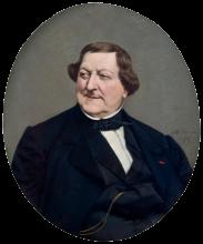 Vito D'Ancona, Ritratto di Gioacchino Rossini