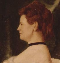Vito D'Ancona, Ritratto femminile [dettaglio]
