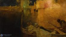 Edoardo Dalbono, Fuochi sul mare alla Festa del Carmine