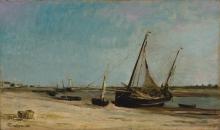 Daubigny, Barche sulla riva del mare a Etaples.jpg