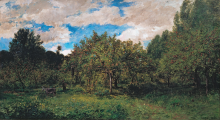 Daubigny, Il frutteto   Le verger   The orchard   Französischer Obstgarten zur Erntezeit