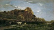 Daubigny, Paesaggio autunnale | Herbstliche Aulandschaft | Paysage d'automne | Autumn landscape