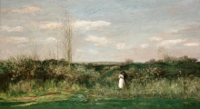 Charles-François Daubigny, Paesaggio primaverile   Frühlingslandschaft