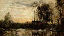 Charles-François Daubigny, Sera a Bas Meudon   Evening at Bas Meudon