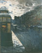 Mario De Maria, Boulevard di Parigi all'imbrunire