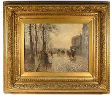 De Nittis (attribuito a), Scena stradale con figure e cavalli.jpg