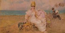 De Nittis, Donna sulla spiaggia.png