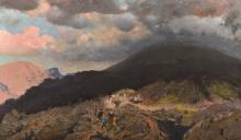 De Nittis, L'eruzione del Vesuvio