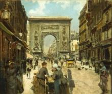 Giuseppe De Nittis, La Porte Saint Denis a Parigi