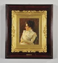 De Nittis, Ritratto di donna in abito bianco [cornice].jpg