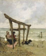 De Nittis, Sulla spiaggia [1875-1880].jpg