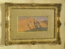 De Nittis, Sulle falde del Vesuvio [1872] [3][cornice].jpg