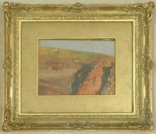 De Nittis, Sulle falde del Vesuvio [1872] [4][cornice].jpg