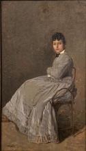 Giuseppe De Nittis, Titine (Ritratto di madame De Nittis seduta)