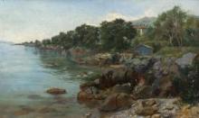 De Tivoli, Bagnanti su una costa rocciosa.jpg