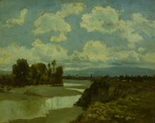 Serafino De Tivoli, L'Arno a San Rossore