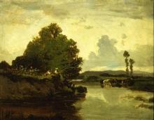 Serafino De Tivoli, La pesca sul fiume