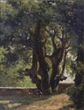 Serafino De Tivoli, Paesaggio con alberi