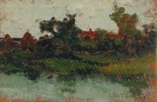 De Tivoli, Paesaggio fluviale con casolare e pagliai.jpg