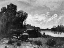 Serafino De Tivoli, Paesaggio fluviale