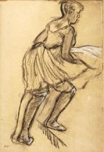 Edgar Degas, Ballerina che sale una scala   Danseuse qui monte un escalier   Dancer who goes up a staircase