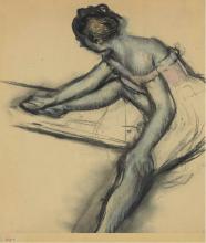 Degas, Ballerina seduta di profilo.png