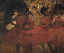 Edgar Degas, Ballerine in gonna rossa | Danseuses en jupes rouges | Dancers in red skirts | Danserinder i røde skørter
