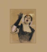 Degas, Cantante con guanto (mademoiselle Desgranges)   Chanteuse avec gant (mademoiselle Desgranges)   Singer with glove (mademoiselle Desgranges)