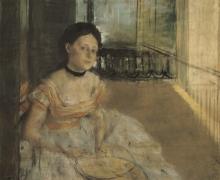 Degas, Donna seduta su un balcone, New Orléans | Femme assise sur un balcon, La Nouvelle-Orléans | Woman sitting on a balcony, New Orleans