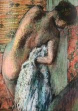 Edgar Degas, Dopo il bagno, donna che si asciuga | Après le bain, femme s'essuyant [dettaglio].