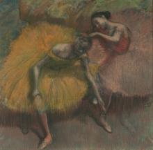 Degas, Due ballerine giallo e rosa | Deux danseuses jaunes et roses | Two dancers yellow and pink | Amarillo y rosa