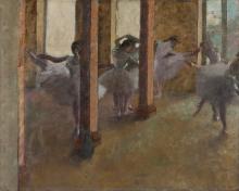 Edgar Degas, Esercizi di danza nel foyer | Exercices de danse dans le foyer | Dance exercises in the foyer | Danseøvelser i foyeren