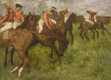 Edgar Degas, Fantini prima della partenza | Jockeys avant le depart | Jockeys before starting