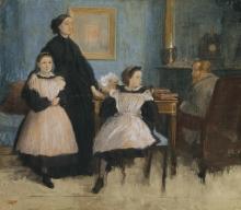Degas, La famiglia Bellelli, studio   La famille Bellelli, étude   The Bellelli family, study