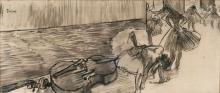 Degas, Preparativi di balletto (Il contrabbasso) | Preparatifs de ballet (La contre basse) | Preparation of ballet (The contrabass) | Preparativos de ballet (El contrabajo)