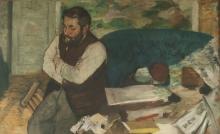 Degas, Ritratto di Diego Martelli | Portrait de Diego Martelli | Portrait of Diego Martelli | Retrato de Diego Martelli
