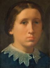 Edgar Degas, Ritratto di Marguerite, sorella dell'artista | Portrait de Marguerite, soeur de l'artiste