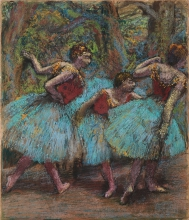 Degas, Tre ballerine (gonne azzurre, corpetti rossi) | Trois danseuses (jupes bleues, corsages rouges) | Three dancers (blue skirts, red bodices)