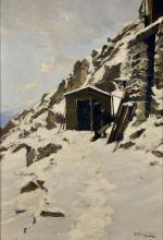 Lorenzo Delleani, Baracca-legnaia sotto la Capanna Gnifetti