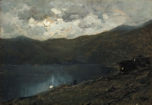 Lorenzo Delleani, Notturno sul lago