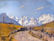 Lorenzo Delleani, Paesaggio montano. Valle d'Aosta