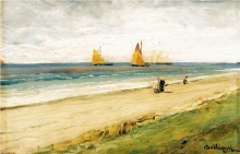 Lorenzo Delleani, Passeggiata lungo la spiaggia